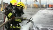 Stock Video Footage of Car Firefighting 911
