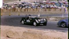 Race Cars on RACETRACK RACE Racing Sports 1960 Vintage Film Home Movie 5878 Stock Footage
