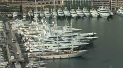 Monte Carlo Harbor Stock Footage