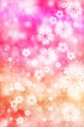 cherry blossoms background - stock illustration
