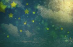 Grungy night sky background Stock Photos