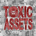 Stock Illustration of toxic assets text with euros