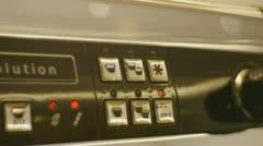 Coffe Machine lights Stock Footage
