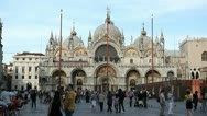 Stock Video Footage of Piazza San Marco, Basilica, Saint Mark's Square, Popular Landmark of Venice
