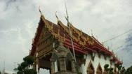 Buddhist Temple In Rural Thailand Stock Footage