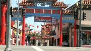 Los Angeles Chinatown Traffic Stock Footage