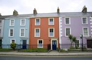 Stock Photo of colorful houses in dublin