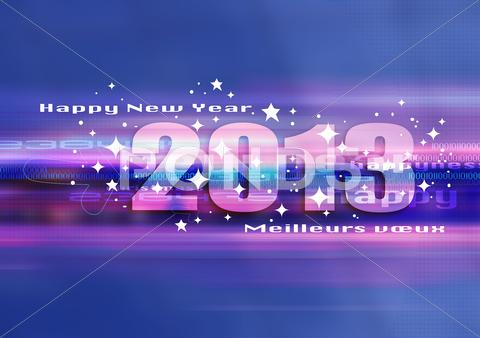Stock Illustration of happy new year 2013