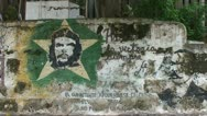 Stock Video Footage of Che Guevara drawing on wall
