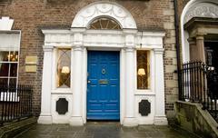 Georgian architecture with blue door Stock Photos