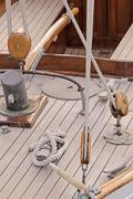 Wooden sailboat Stock Photos