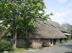Beautiful wooden thatched cottage Stock Photos