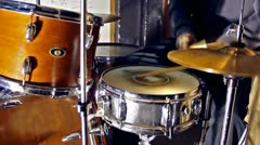 Drummer in close up Stock Footage
