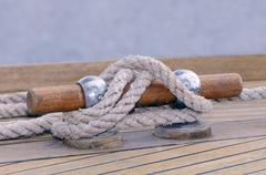 mooring boat - stock photo