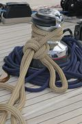 Sailboat detail Stock Photos