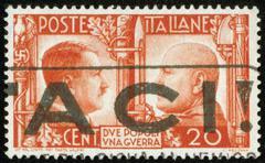 Leima Hitlerin ja Mussolinin Kuvituskuvat