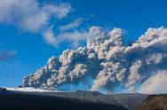 Stock Photo of $erupting volcano, Eyjafjallajökull eruption in 2010 in Iceland