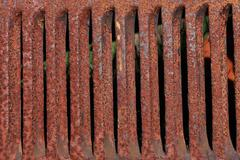 rusty metal grille - stock photo