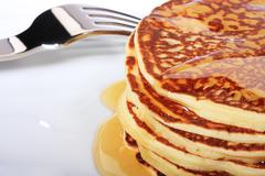 american pancakes - stock photo