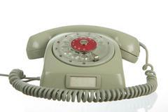 Stock Photo of analog telephone