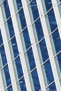 windowed wall - stock photo
