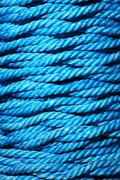 blue rope - stock photo