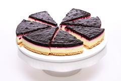 blueberry cheesecake - stock photo