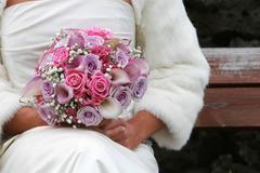 Bride and bouqet Stock Photos