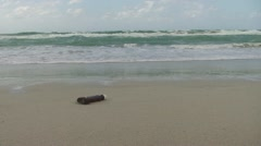 Message in a bottle at the sea Stock Footage