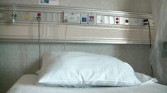 Stock Video Footage of Hospital Bed & Wall Controls