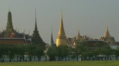 Wide shot from Bangkok Grand palace Stock Footage