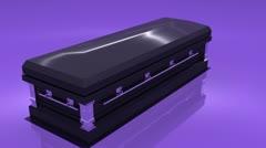 Coffin turn loop looping death Stock Footage