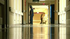 Hospital Workers in Hall Stock Footage