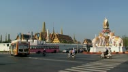 Stock Video Footage of Crossing in front of the Bangkok Grand palace