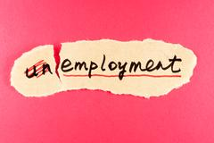 Unemployment to employment Stock Photos