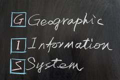 gis, geographic information system - stock photo