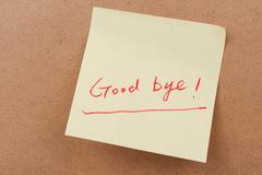 Good bye words Stock Photos