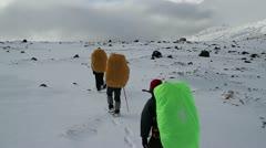 Snow, Kamchatka, Klyuchevskaya Stock Footage