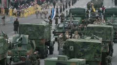 Stock Video Footage of Military convoy