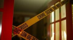 Detective police line gun crime scene Stock Footage