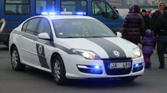 Police Car Lights Stock Footage