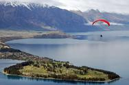 Stock Photo of Queenstown Vista Hang gliding