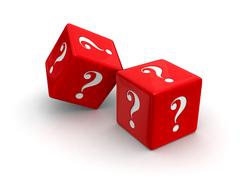 Stock Illustration of question dice