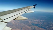 Stock Video Footage of Airplane Wing