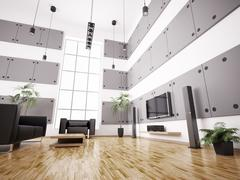 Stock Illustration of living room interior 3d render