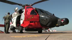 A Coast Guard Jayhawk helicopter Stock Footage