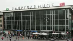 Main Train station in Cologne Germany Stock Footage