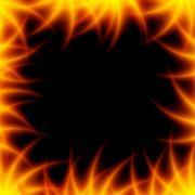 Fiery flower Stock Illustration