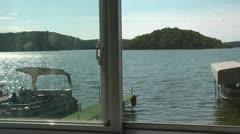 Lake View - Pan to Fruit Bowel Stock Footage
