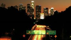 Los Angeles Sunset Rush Hour Time Lapse Stock Footage